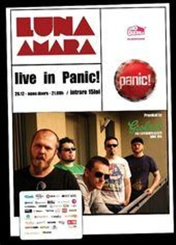 Concert Luna Amara in Panic Club din Bucuresti