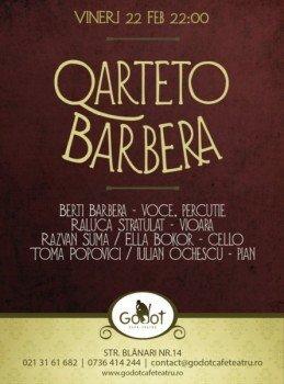 Concert Quarteto Barbera in Godot Cafe-Teatru