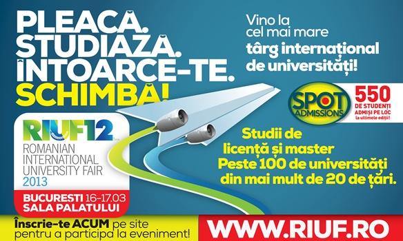 RIUF viziteaza Bucuresti, Timisoara si Iasi!
