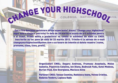 Change Your HighSchool Sava si Cosbuc