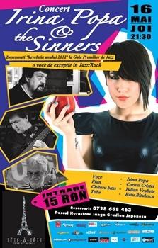 Concert Irina Popa & The Sinners la Tete-a-Tete