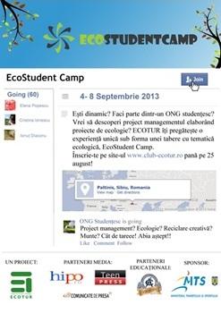 Esti student? Vino la EcoStudent Camp 2013!