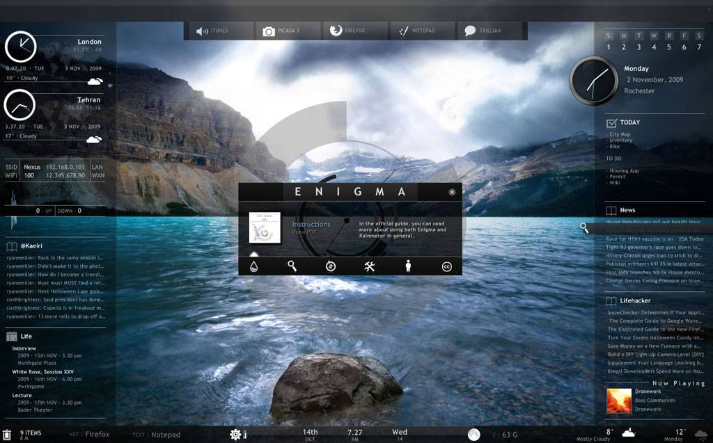 Games - Rainmeter, sau cum sa iti faci desktop-ul o nava spatiala